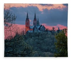 Sunset At Holy Hill Fleece Blanket