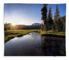 Sunset At Kings Creek In Lassen Volcanic National Fleece Blanket