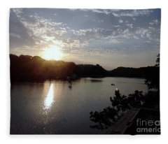 Sunset At Occoquan Fleece Blanket