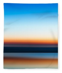 Sunset At Ottawa Lake Fleece Blanket