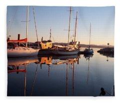 Sunset At Powell River Fleece Blanket