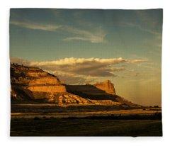 Sunset At Scotts Bluff National Monument Fleece Blanket