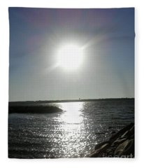 Sunset At Solomons Island Md Fleece Blanket