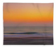 Sunset At The Beach Fleece Blanket