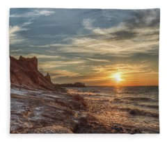 Sunset At The Bluffs Fleece Blanket