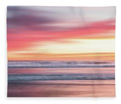 Sunset Blur - Pink Fleece Blanket