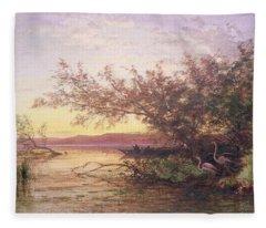 Sunset, Camargue Fleece Blanket