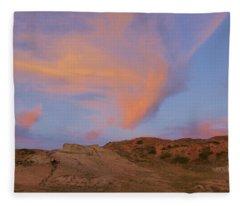 Sunset Clouds, Badlands Fleece Blanket
