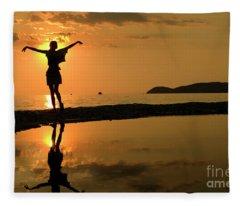 Sunset Dance Fleece Blanket