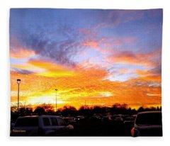 Sunset Forecast Fleece Blanket
