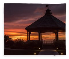 Sunset Gazebo Lavallette New Jersey Fleece Blanket