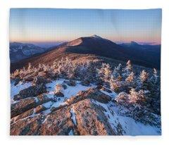 Sunset Glow On Franconia Ridge Fleece Blanket