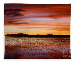 Sunset Highways 2 Fleece Blanket