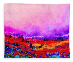 Sunset Hills Fleece Blanket