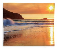 Sunset In Brookings Fleece Blanket
