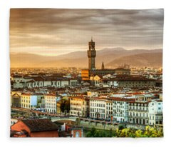 Sunset In Florence Fleece Blanket