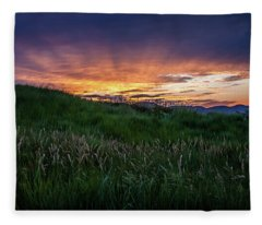 Sunset In Golden, Co Fleece Blanket