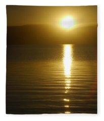 Sunset In January Fleece Blanket