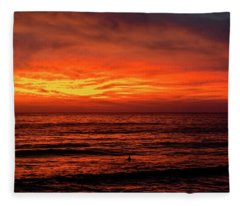 Sunset In La Jolla Fleece Blanket