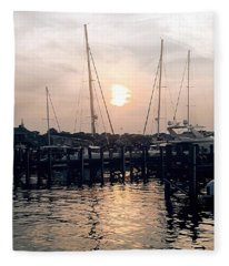 Sunset In Nantucket Fleece Blanket