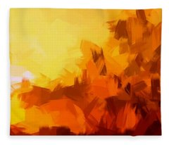 Sunset In Valhalla Fleece Blanket