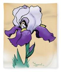 Sunset Iris Fleece Blanket
