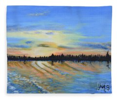 Sunset-ivanhoe1 Fleece Blanket