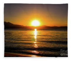 Sunset Lake 1 Fleece Blanket