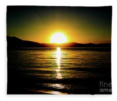 Sunset Lake 2 Fleece Blanket