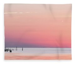 Sunset Landscape Fleece Blanket