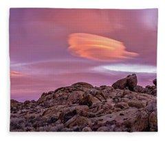 Sunset Lenticular Fleece Blanket