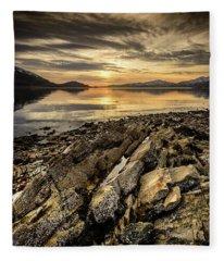Sunset, Loch Lochy Fleece Blanket
