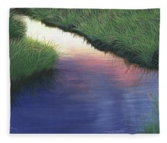 Sunset Marsh Series Fleece Blanket