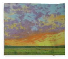 Sunset Near Miles City Fleece Blanket