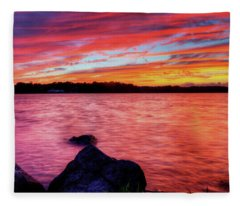 Sunset Of Fire Fleece Blanket