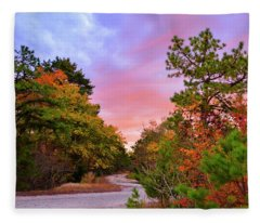 Sunset On Bombing Run Road Fleece Blanket