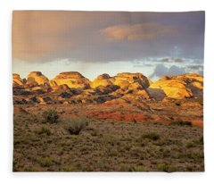 Sunset On Capitol Reef Fleece Blanket