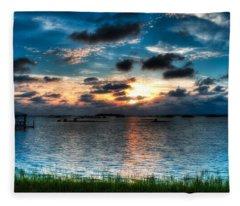 Sunset On Cedar Key Fleece Blanket