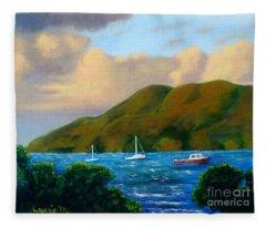 Sunset On Cruz Bay Fleece Blanket
