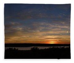 Sunset On Lake Georgetown Fleece Blanket