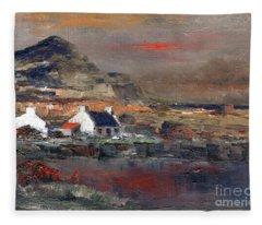 Sunset On Mount Errigal, Dunegal Fleece Blanket