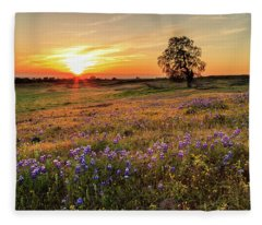 Sunset On North Table Mountain Fleece Blanket