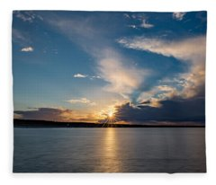 Sunset On The Baltic Sea Fleece Blanket