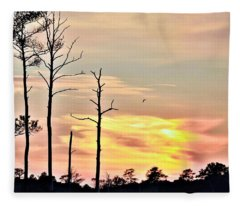 Sunset On The Eastern Shore Fleece Blanket