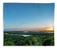 Sunset On The Outer Banks Fleece Blanket
