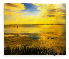 Sunset On The Sound Fleece Blanket