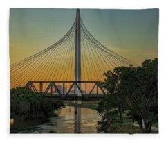 Sunset On The Trinity Fleece Blanket