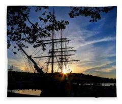 Sunset On The Whalers Fleece Blanket