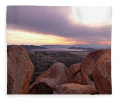 Sunset Over Diamond Valley Lake Fleece Blanket