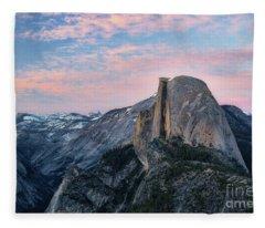 Sunset Over Half Dome Fleece Blanket